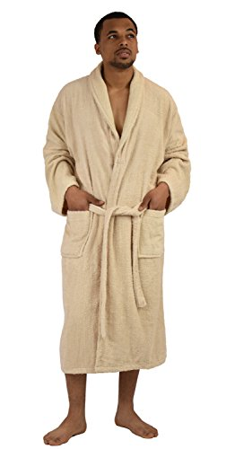 Robe Classic Terry (Up2date Fashion Men's Classic Terry Bath Robe, Style TRM54 (S/M, Beige))
