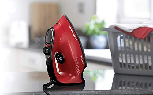 Morphy Richards 220v Iron 2600 watts with Steam Auto Shut Off 220 240 Volts 50 60 hz Bundle with Dynastar Plug Adapter NOT for USA