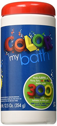 - Color My Bath Color Changing Bath Tablets, 300-Piece