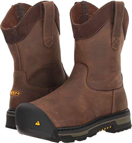 KEEN Utility Men's Oakland Wellington Industrial Boot, Cascade Brown/Black, 9 D US (Keen 9 Mens)