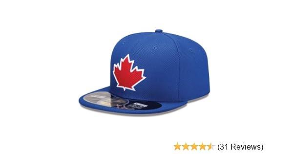 538dc272bcd Amazon.com   New Era Mens 59Fifty Diamond Tech Toronto Blue Jays Cap    Sports   Outdoors