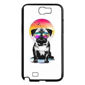 Samsung Galaxy N2 7100 Cell Phone Case Black Summer Pug V. II