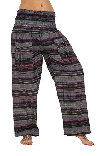 ThaiUK - Pantalón - para mujer azul/verde