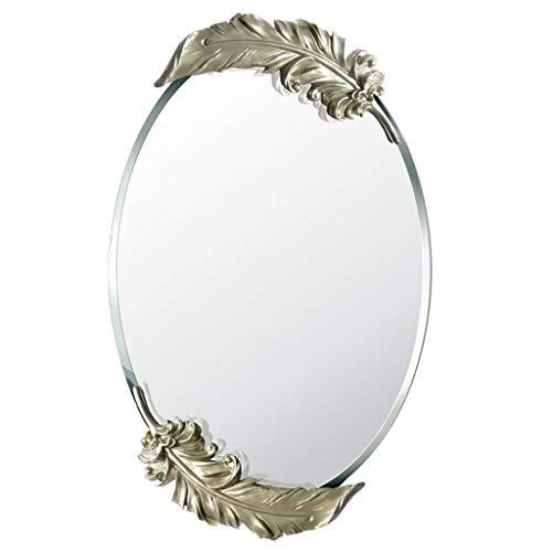 ACDRX Frameless Bathroom Wall Mirror Vanity Mirror Tilting Mirror, Oval Floating Glass -