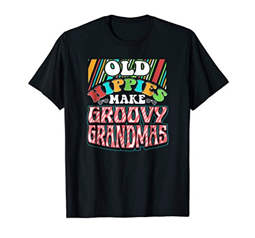 Groovy Christmas Tree - Old Hippies Make Groovy Grandmas T-Shirt Grandparents Day