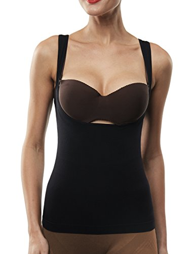 Beilini Women's Shapewear Cami Tank Top Open Bust Body Shaper Slimming Waist Cincher
