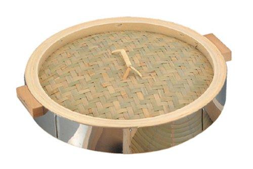 18-0 中華セイロ ステンレス枠 蓋 42cm 42cm  B004D2K59W