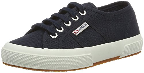 Superga Cotu Plus navy Adulte white Mixte Basses 2750 Blau B4fqwB
