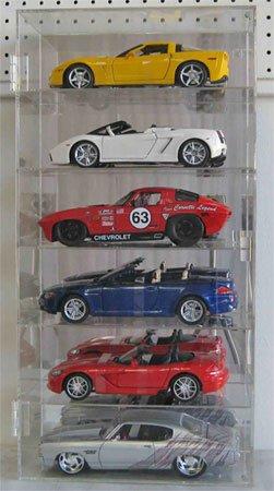 Clear Acrylic Nascar Maisto Diecast Display Case for 6 Cars 1/18 ()