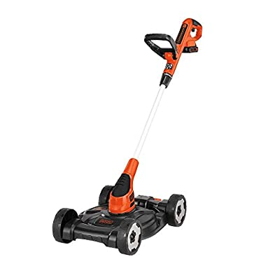 BLACK+DECKER MTC220 12-Inch Lithium Cordless 3-in-1 Trimmer/Edger and Mower, 20-volt (Battery-Powered)