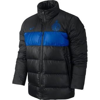 77d5eca6af6d Nike Inter Milan Mens Padded Jacket Puffer Coat Black Blue Size S - XXL (XL)   Amazon.co.uk  Clothing