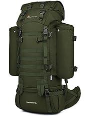 Mardingtop 60L Rucksack Taktischer Rucksack Wanderrucksack Trekkingrucksack YKK Zipper,mit Eine Regenschutz