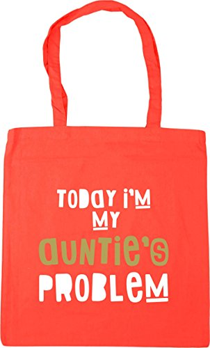 Tote Auntie's Beach My Coral litres 10 I'm Problem Gym HippoWarehouse Today Bag x38cm 42cm Shopping RtqXwUW