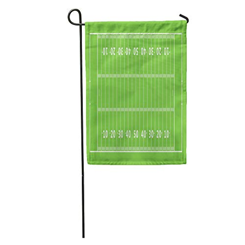 Semtomn Garden Flag Green Line American Football Field Gridiron Pattern Goal Post Endzone Home Yard House Decor Barnner Outdoor Stand 28x40 Inches Flag - Gridiron Post Game
