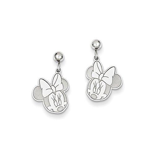 Earrings Disney Dangle (Roy Rose Jewelry Roy Rose Jewelry Sterling Silver Disney Minnie Mouse Dangle Post Earrings)