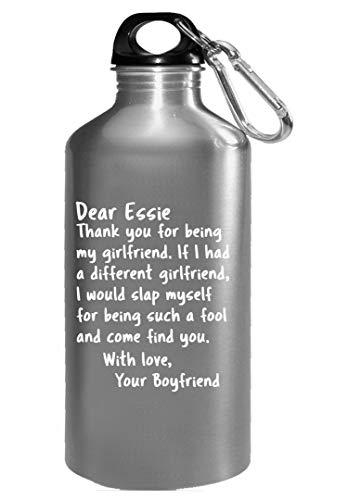 Sierra Goods Dear Essie My Girlfriend from Boyfriend Funny Saying Valentines Water Bottle