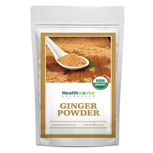 Healthworks Ginger Powder (8 Ounces) | Ground | Raw | All-Natural & Certified Organic | Keto, Vegan & Non-GMO | Great with Coffee, Tea & Juices | Antioxidant Superfood/Spice (Cookie Recipes Using Instant Lemon Pudding Mix)