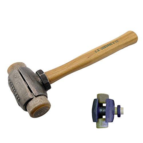 C.S. Osborne Rawhide Split Head Hammer #395-2R, Size 2, Made In USA by C.S. Osborne