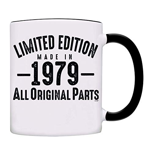Mug 1979-40th Birthday Gifts Limited Edition Made In 1979 All Original Parts Coffee Mug-1979-0073-Black -