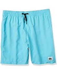 ughbhjnx Kids Stripe Beach Fully Lined Swim Stretch Board Shorts