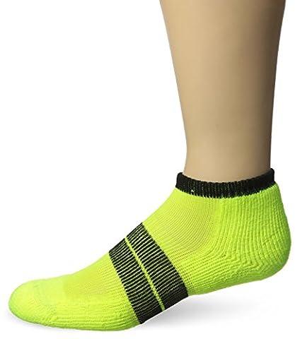 Thorlos Men's Thick Padded 84N Runner Socks, Yellow/Black, Medium (Men's 5.5- 8.5) - 84n Runner