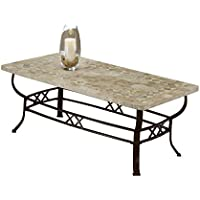 Hillsdale 4815OTC Brookside Fossil Stone Coffee Table, Brown Powder coat