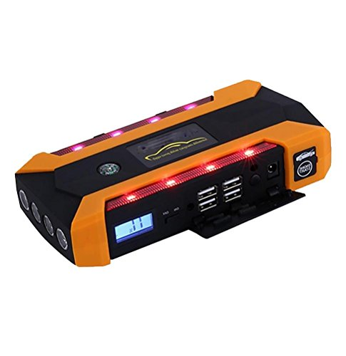 QINUO 600A Peak 20000mAh Portable Car Jump Starter (Up to 6.0L Gas or 4.0L Diesel Engines) Auto Battery Booster Power Pack Phone Charger With Smart Charging Ports by QINUO