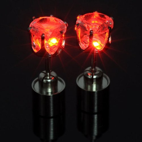 Top Plaza Earrings Glowing Crystal