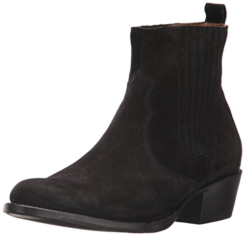 FRYE Women's Diana Chelsea Boot, Black Soft Oiled Suede, 10 M US