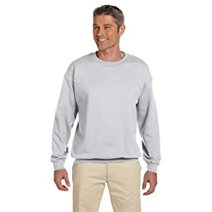 Jerzees Adult Preshrunk Fleece Crewneck Sweatshirt, Ash, Medium