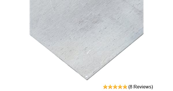 T6 Temper Mill 48 Length 24 Width Unpolished ASTM B209//AMS QQ-A 250-12//AMS 4045 Finish 0.05 Thickness 7075 Aluminum Sheet