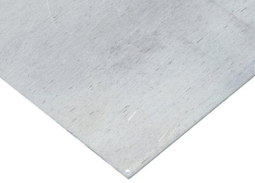 7075 Aluminum Sheet, Unpolished (Mill) Finish, T6 Temper, ASTM B209/AMS QQ-A 250-12/AMS 4045, 0.063'' Thickness, 36'' Width, 36'' Length by Small Parts