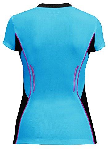 Berkner Mujer corta deportiva para correr para mujer, transpirable, varios colores (fabricado en la ue) turquesa