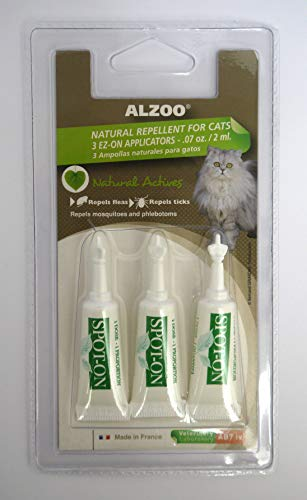 ALZOO Natural Flea and Tick Repellent Spot-On for Cats (3 pk)