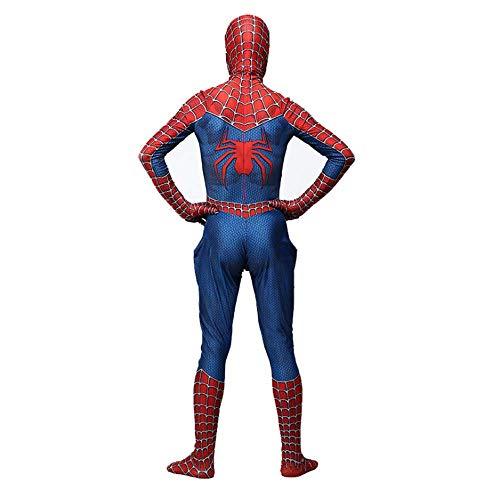 RNGNBKLS Niño Adulto Spiderman Homecoming Disfraz Halloween Carnaval Cosplay Spiderman Suit Spandex/Lycra 3D Print Spiderman Traje,Adult-L