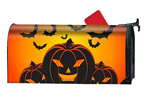 XPNiao Halloween Fat Pumpkin Mailbox Makeover - Seasonal Magnetic Cover