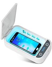 Poweka Caja de Desinfecci/ón UV para Tel/éfono Celular Caja de Esterilizador Multifunci/ón con 10W Cargador Inal/ámbrico para Todos Los Tel/éfonos de Menos de 6,5 Pulgadas
