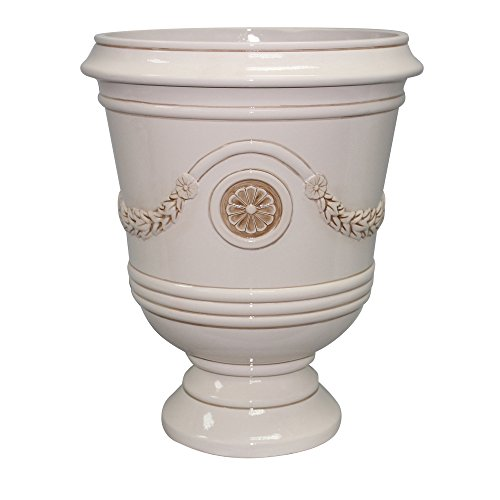 Southern Patio 15'' Diameter Porter Urn Planter, Ivory White by Southern Patio