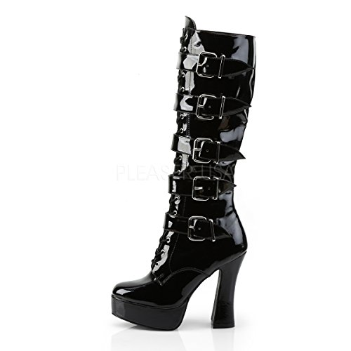Boots Womens Electra Knee black 2042 patent PleaserUSA E7aqwdxE
