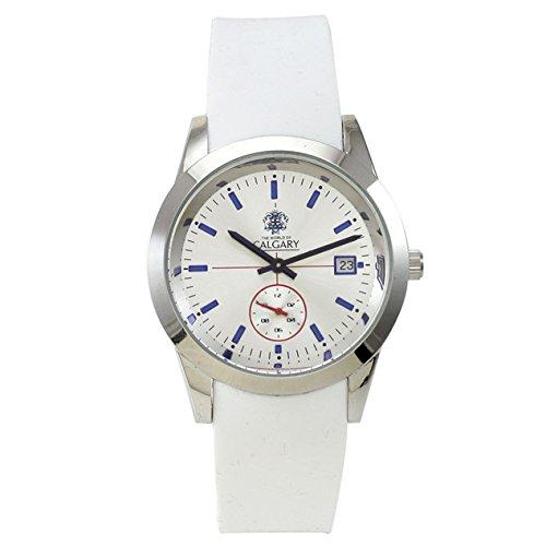 Relojes Calgary Premium Notting Hill. Reloj cronógrafo Gama Premium de Mujer con Correa de Silicona Blanca y Esfera Color Blanca.: Amazon.es: Relojes