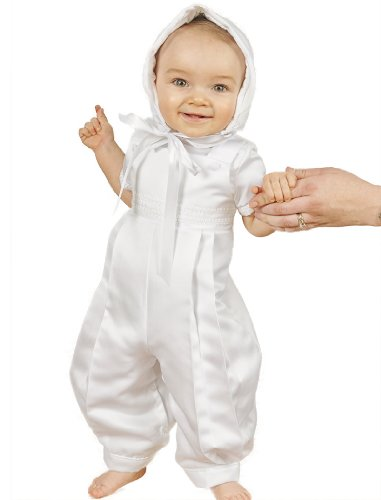 Sawyer Satin Christening Baptism Blessing Outfits for Boys, Made in USA