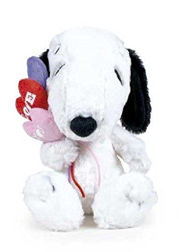 Snoopy Peluche Cane Snoopy Con Tre Cuori Di Colori E La