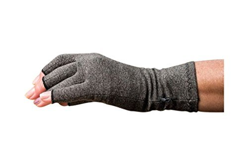 Atom Health  Arthritis Gloves with Compression Relief, Original Grey, 1 Pair by Theramodà - Rapid Relief from Arthritis, Joint Pain & Symptoms of Carpal Tunnel Syndrome by Atom Health