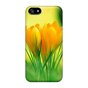 Premium Yellow Flower Back Cover Snap On Case For Iphone 5/5s