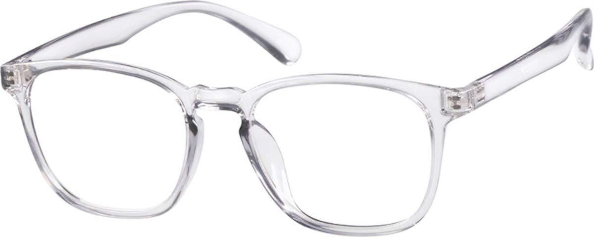 Zenni Optical Blokz Blue Light Blocking Computer Glasses Square Universal Bridge Fit Clear Frame 2020123