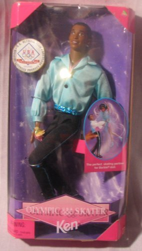 African American Barbie Olympic Skater Ken Mattel 18504