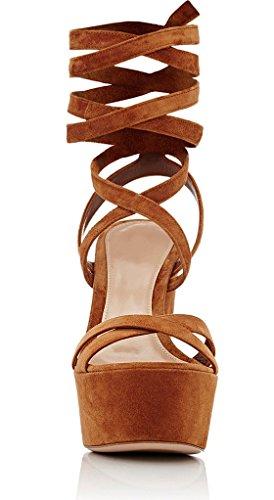 11sunshop Platformmodel Chucky Van Gilliane Design Bij 33-44 Alleen Lopend Meting Marron Choco