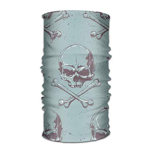 Terror Skull Pattern Graphics Unisex Fashion Quick-Drying Microfiber Headdress Outdoor Magic Scarf Neck Neck Scarf Hooded Scarf Super Soft Handle