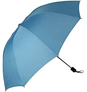 3 Fold 10 Panels Manual Umbrella with 50-inch Canopy Coverage and Attached Carrying Strap , Suitable for 2 People (blue)