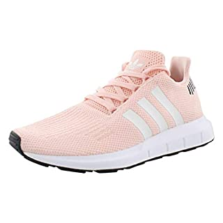 adidas Originals Women's Swift Run Sneaker, ice Pink/White/Black, 8.5 M US